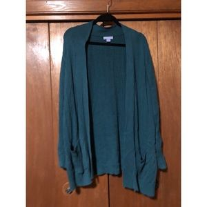 Emerald Green Sweater Cardigan
